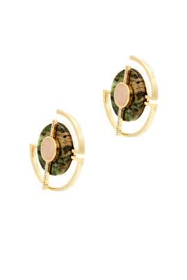 Moss Orbit Hoop Earrings  by Danielle Nicole