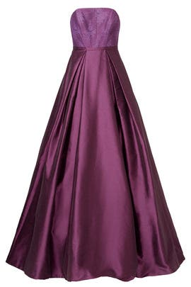 Burgundy Belle Gown by ML Monique Lhuillier
