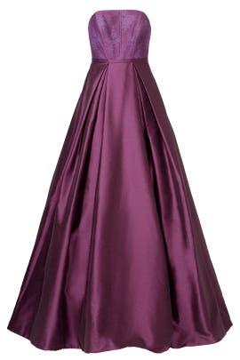 ML Monique Lhuillier - Burgundy Belle Gown