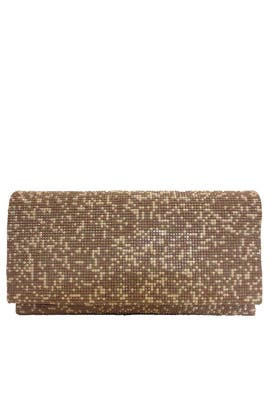 Taupe Foldover Clutch by Sondra Roberts