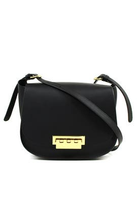 Black Eartha Iconic Saddle Bag by ZAC Zac Posen Handbags