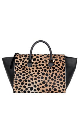 Leopard Sandrine Bag by Clare V.