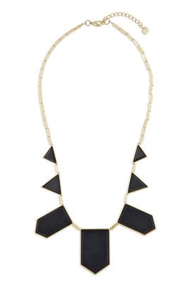 Black Geo Metric Necklace by House of Harlow 1960