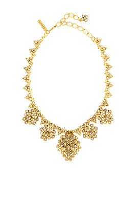 Teardrop Framed Crystal Necklace by Oscar de la Renta