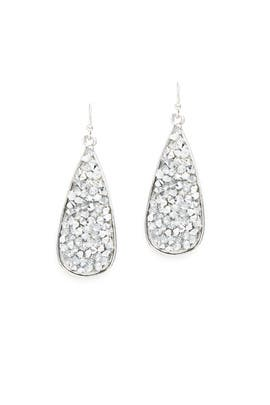 Crystal Shards Drop Earrings by Slate & Willow Accessories