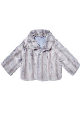 Gray Rex Jacket by Adrienne Landau