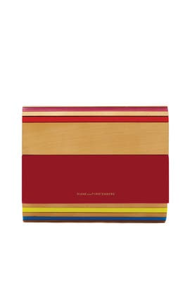Multicolored Twilight Clutch by Diane von Furstenberg Handbags