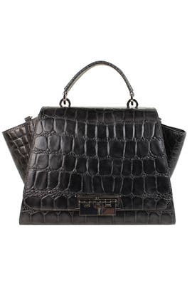Graphite Crocodile Eartha Handbag by ZAC Zac Posen Handbags