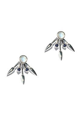 Moonstone Beam Earrings by Pamela Love