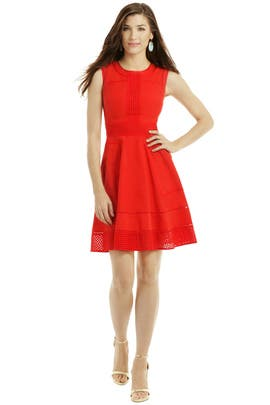 Trim Combo Dress by Rachel Roy