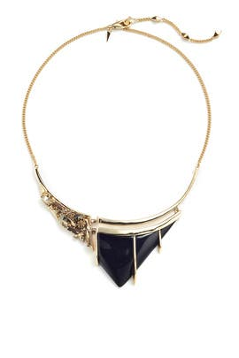 Gold Ash Stone Necklace by Alexis Bittar