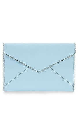 Sky Blue Leo Clutch by Rebecca Minkoff Handbags