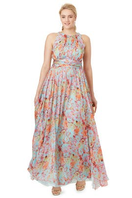 Wild Meadow Maxi Dress by Badgley Mischka