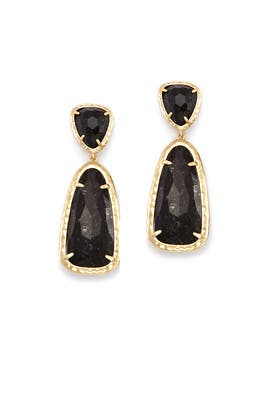 Black Daria Earrings by Kendra Scott