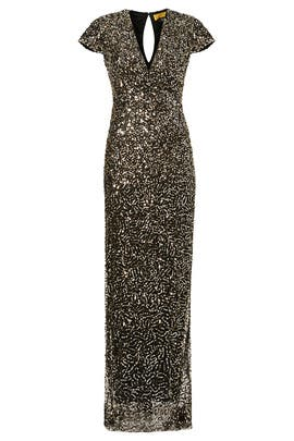 Nicole Miller - Midnight Sequin Stars Gown