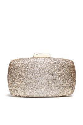 Gold Glitter Ombre Clutch by Sondra Roberts