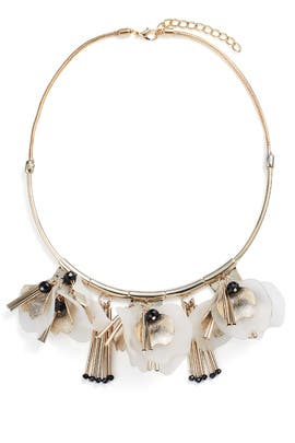 Flyaway Floral Petal Collar Necklace by Slate & Willow Accessories
