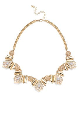Gold Glitter Art Deco Necklace by Slate & Willow Accessories