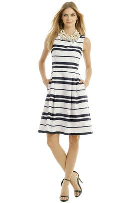 Point Of Sail Dress by Carmen Marc Valvo