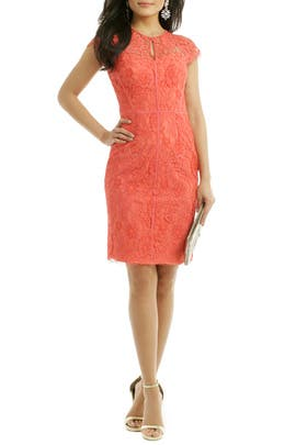 ML Monique Lhuillier - Grapefruit Spritz Sheath
