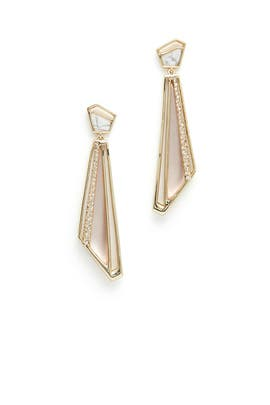 Crystal Dangling Spoked Post Earring by Alexis Bittar