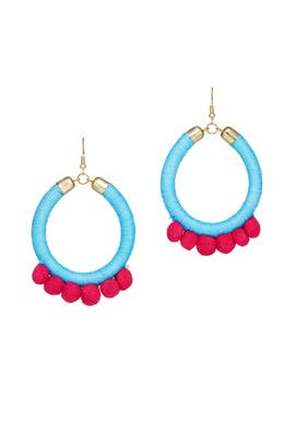 Turquoise Lauren Earrings by Area Stars