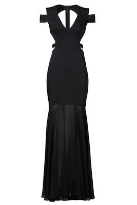 Cage Lock Gown by BCBGMAXAZRIA