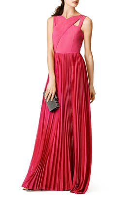 Sachin & Babi - Fuchsia Cross Gown