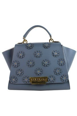 Floral Denim Eartha Handbag by ZAC Zac Posen Handbags