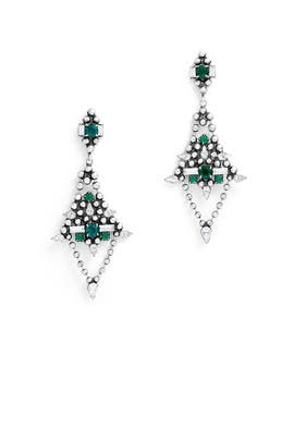 Emerald Lazarus Earrings by Dannijo