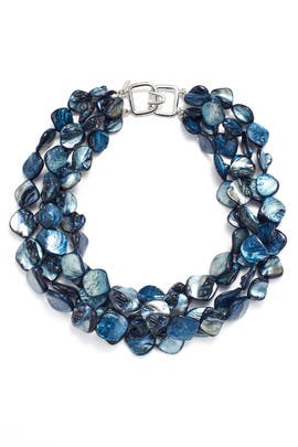 Blue Shimmer Stone Necklace by Kenneth Jay Lane