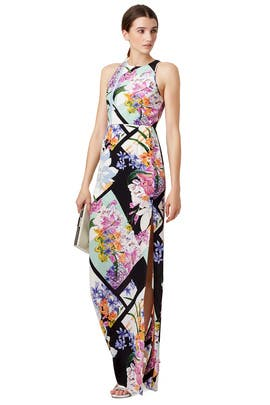 Floral Rubric Maxi Dress by Yumi Kim