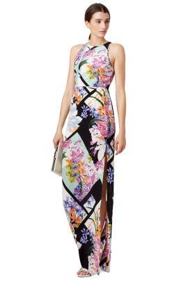 Floral Rubric Maxi Dress by Yumi Kim