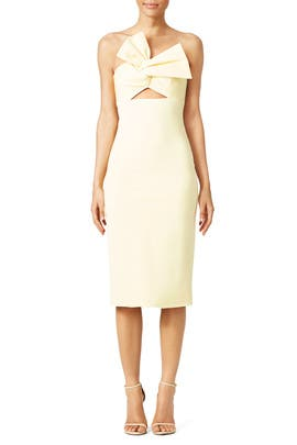 Light Yellow Twist Dress by Cushnie Et Ochs