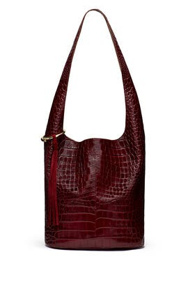 Red Finley Courier Bag by Elizabeth and James Accessories