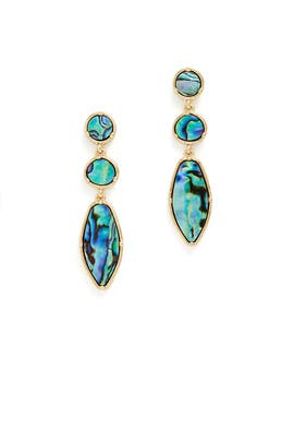 Abalone Drop Earrings by Slate & Willow Accessories