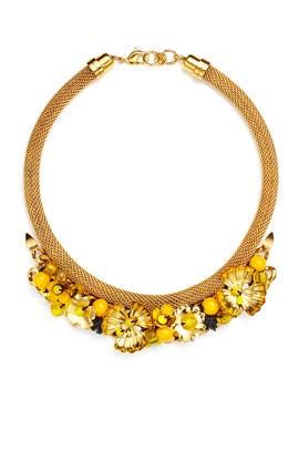 Yellow Hula Necklace by Lizzie Fortunato