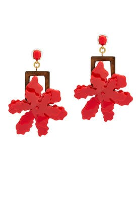 Lily Flower Earrings by Oscar de la Renta