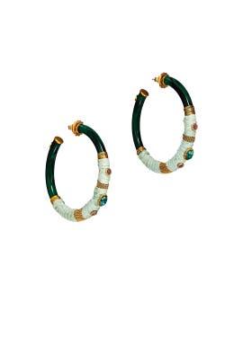 Bo Creole Cabochon Earrings by Gas Bijoux