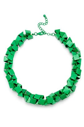 Slate & Willow Accessories - Green Rubix Necklace