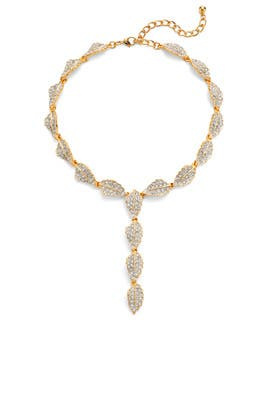 Crystal Leaf Necklace by Kenneth Jay Lane