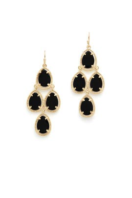 Black Chandelier Earrings by Slate & Willow Accessories