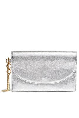 Silver Saddle Evening Clutch by Diane von Furstenberg Handbags
