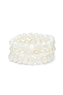 Pearl Bracelet Set by Kenneth Jay Lane