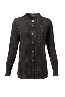 Black Dot Button Down by Equipment
