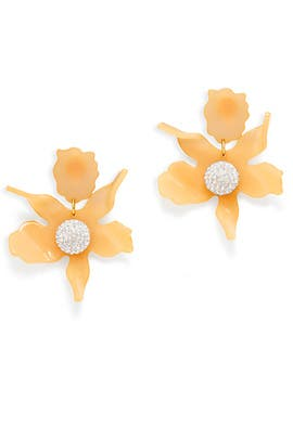 Peach Crystal Lily Earrings by Lele Sadoughi