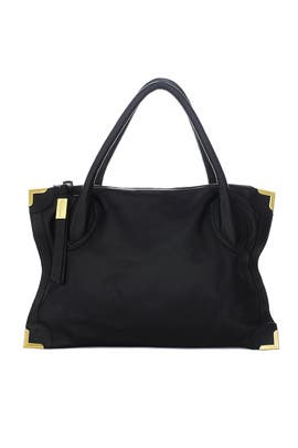 Black Framed Satchel by Foley + Corinna