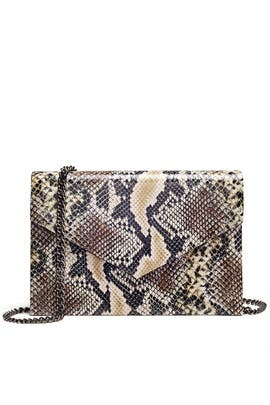 Natural Python Clutch by Inge Christopher