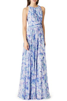 Badgley Mischka - Water Lilies Maxi Dress