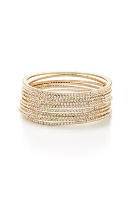 Chamak by Priya Kakkar - Gold Skyline Bangle Stack